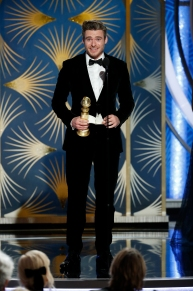 "BEVERLY HILLS, CALIFORNIA - JANUARY 06: In this handout photo provided by NBCUniversal, Richard Madden from ""Bodyguard"" accepts the Best Performance by an Actor in a Television Series – Drama award onstage during the 76th Annual Golden Globe Awards at The Beverly Hilton Hotel on January 06, 2019 in Beverly Hills, California. (Photo by Paul Drinkwater/NBCUniversal via Getty Images)"