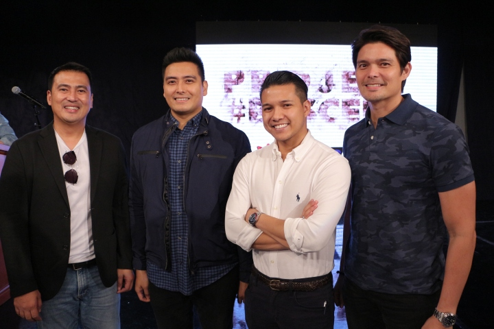 (From left) Mark Lapid, Cong. Alfred Vargas, Brian Poe Llamanzares, Ding...