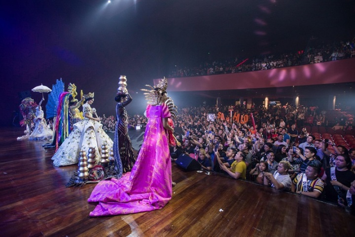 The Binibining Pilipinas 2019 National Costume presentation at the New Frontier Theater (courtesy of New Frontier Theater)